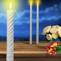 Lumanari De Botez Groase Simple 75x50cm Lumânări Decorative