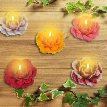 Trandafir Rustic Lumanare Lumânări Decorative Gb Design Handmade